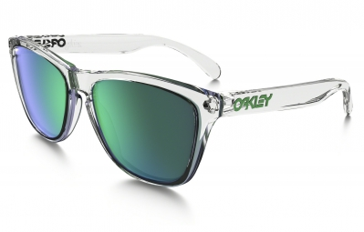 lunettes oakley frogskins crystal collection transparent vert iridium ref oo9013 a3