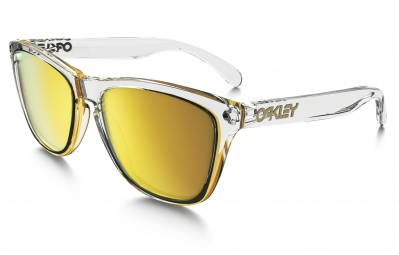 lunettes oakley frogskins crystal collection transparent jaune iridium ref oo9013 a4