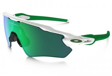 oakley lunettes radar ev path blanc vert jade iridium ref oo9208 48