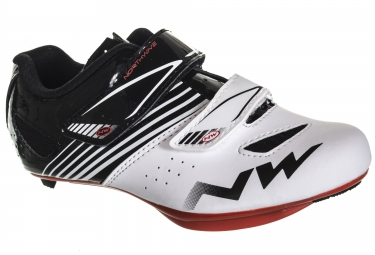 paire de chaussures route northwave torpedo junior blanc noir