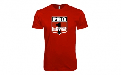 t shirt usa bmx pro 1 shield rouge