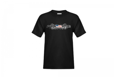 t shirt enfant usa bmx flag and swirls noir