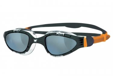 lunettes de bain zoggs aqua flex noir orange