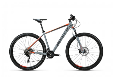 vtt semi rigide cube acid 27 5 deore xt 10v gris orange