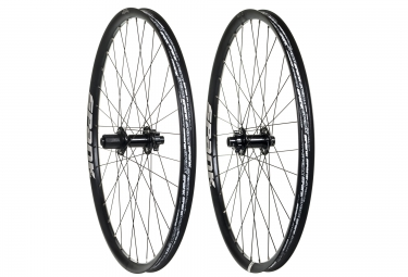 paire de roues spank spike race 33 27 5 av 20x110mm ar 12x150mm noir