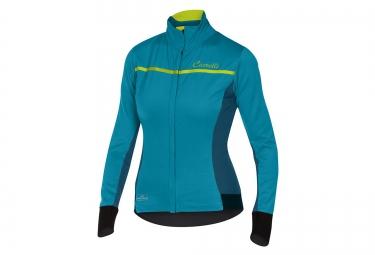 maillot coupe vent femme castelli trasparente 3 wind bleu