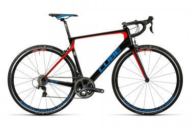 velo de route cube agree c 62 sl team wanty shimano dura ace 11v noir rouge bleu