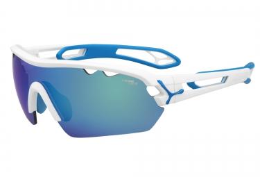 cebe paire de lunettes s track mono m blanc mat bleu 1500 gris