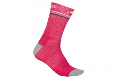paire de chaussettes castelli atelier rose gris