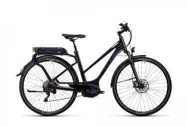 velo de ville electrique femme cube touring hybrid pro 400 shimano xt 10v noir