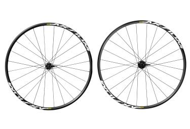 paire de roue mavic aksium disc 2017 axes 9mm shimano sram noir
