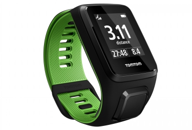 montre gps tomtom runner 3 bracelet large noir vert