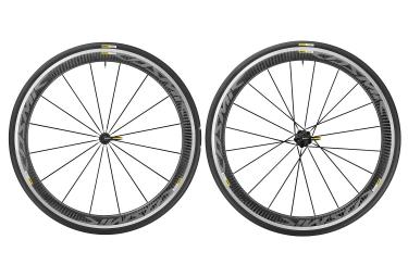 paire de roues mavic cosmic pro carbon sram shimano yksion pro 25mm noir mat