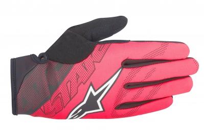 gants alpinestars stratus rouge noir