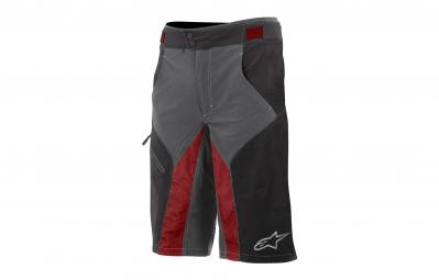 short avec peau alpinestars outrider water resistant noir rouge