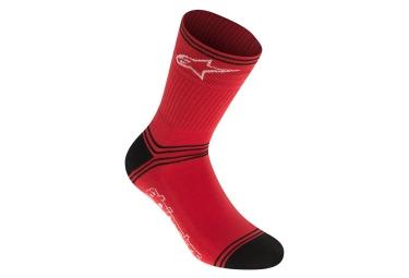 chaussettes alpinestars winter rouge noir