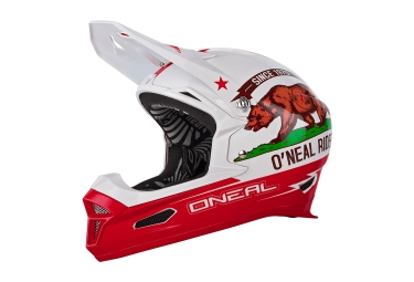 casque integral oneal fury rl california 2016 blanc rouge