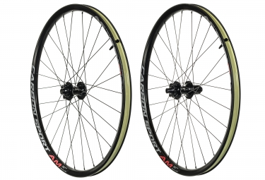 paire de roues asterion carbon sport am 27 5 corps shimano sram 15x100 12x142mm tl r