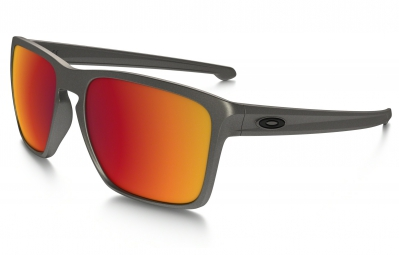 lunettes oakley sliver xl metals collection gris rouge iridium ref oo9341 08