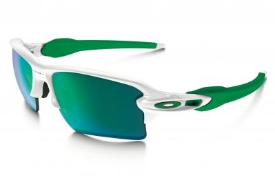 lunettes oakley flak 2 0 xl blanc vert iridium ref oo9188 63