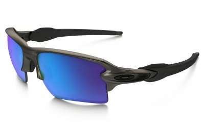 lunettes oakley flak 2 0 xl metals collection gris bleu iridium ref oo9188 61
