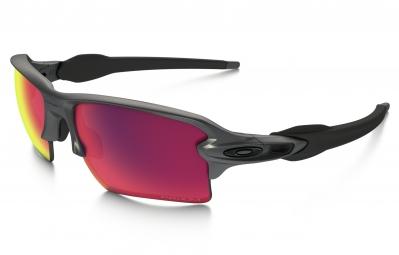 lunettes oakley flak 2 0 xl steel collection gris violet iridium prizm road ref oo91