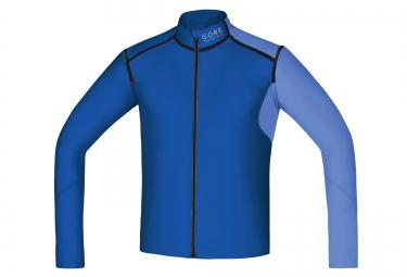 veste soft shell gore running wear fusion windstopper bleu