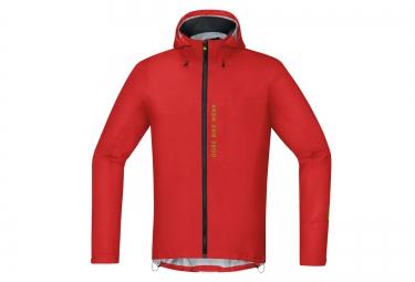 veste impermeable gore bike wear active power trail gore tex rouge