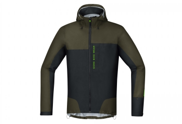 veste impermeable gore bike wear active power trail gore tex noir kaki