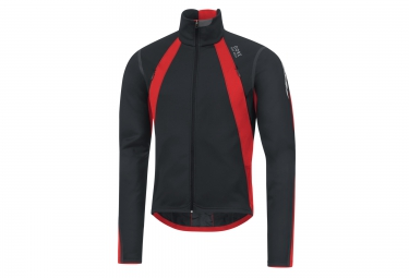 veste thermique coupe vent gore bike wear oxygen windstopper noir rouge