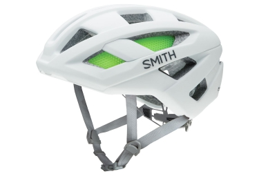 casque smith route blanc mat
