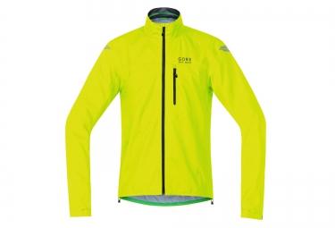 veste impermeable gore bike wear element active gore tex jaune