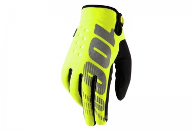 100 paire de gants brisker jaune fluo
