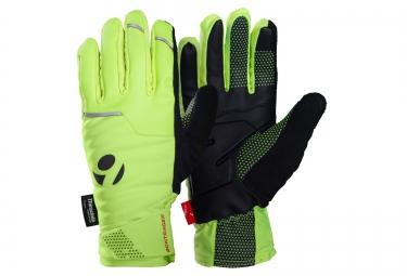 gants hiver bontrager velocis s1 softshell haute visibilite jaune