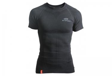 maillot de compression manches courtes bv sport skael noir
