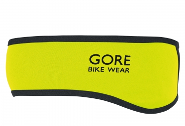 bandeau gore bike wear universal windstopper noir jaune