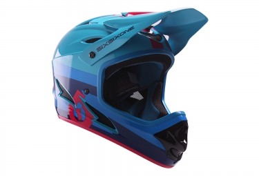661 sixsixone casque integral comp bleu rouge 2017