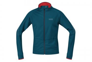 maillot a capuche gore running wear essential bleu