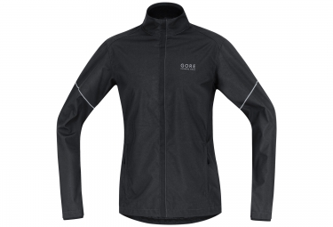 veste coupe vent gore running wear essential windstopper noir