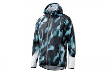veste repliable skins plus noir bleu camouflage