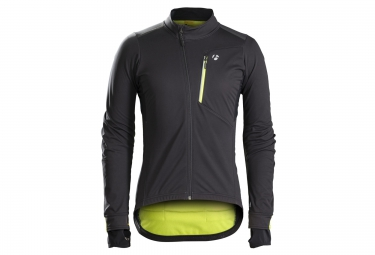 veste bontrager velocis s2 softshell noir jaune haute visibilite