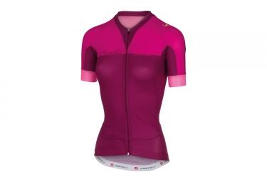 maillot manches courtes femme castelli aero race rose