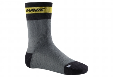 chaussettes mavic ksyrium elite thermo gris noir jaune