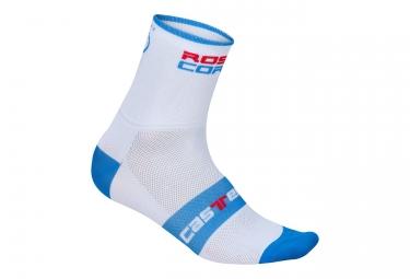 paire de chaussettes castelli rosso corsa 9 blanc bleu