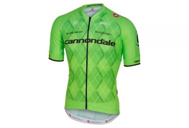 maillot manches courtes castelli team 2 0 team cannondale vert