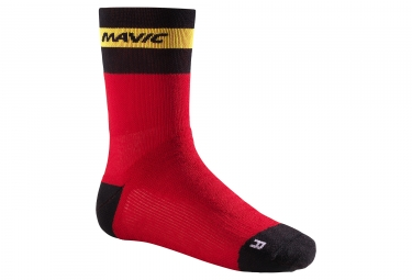 chaussettes mavic ksyrium elite thermo rouge noir jaune