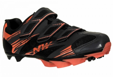 chaussures vtt northwave scorpius 2 noir orange