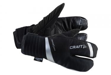 paire de gants 3 doigts craft shield noir