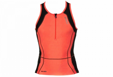maillot sans manches femme 2xu perform tri singlet orange
