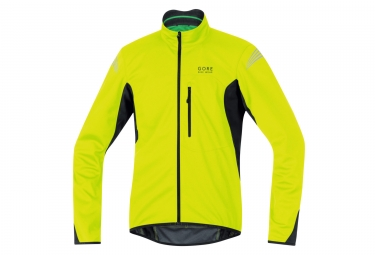 veste soft shell gore bike wear element windstopper jaune noir